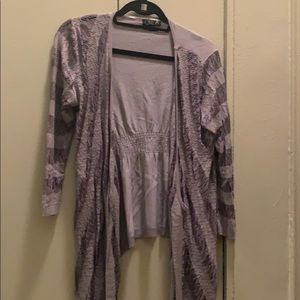 Light gray/purple cardigan
